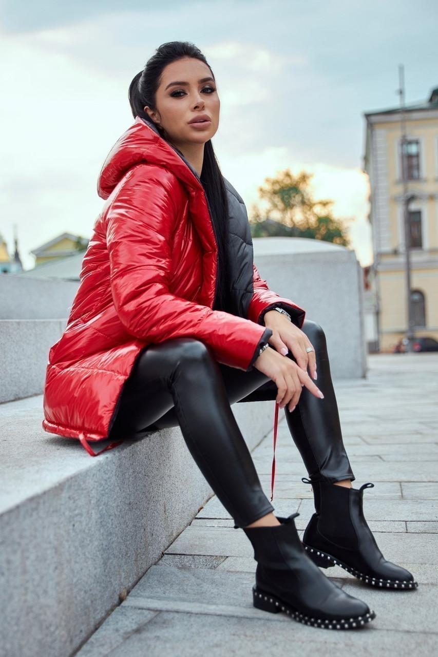 Молодежная ДВУХСТОРОННЯЯ куртка с капюшоном S, M, L, XL размер