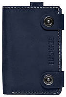 Презентабельный мужской кожаный чехол-портмоне для телефона iPhone 6 Black Brier П-18-97 темно-синий