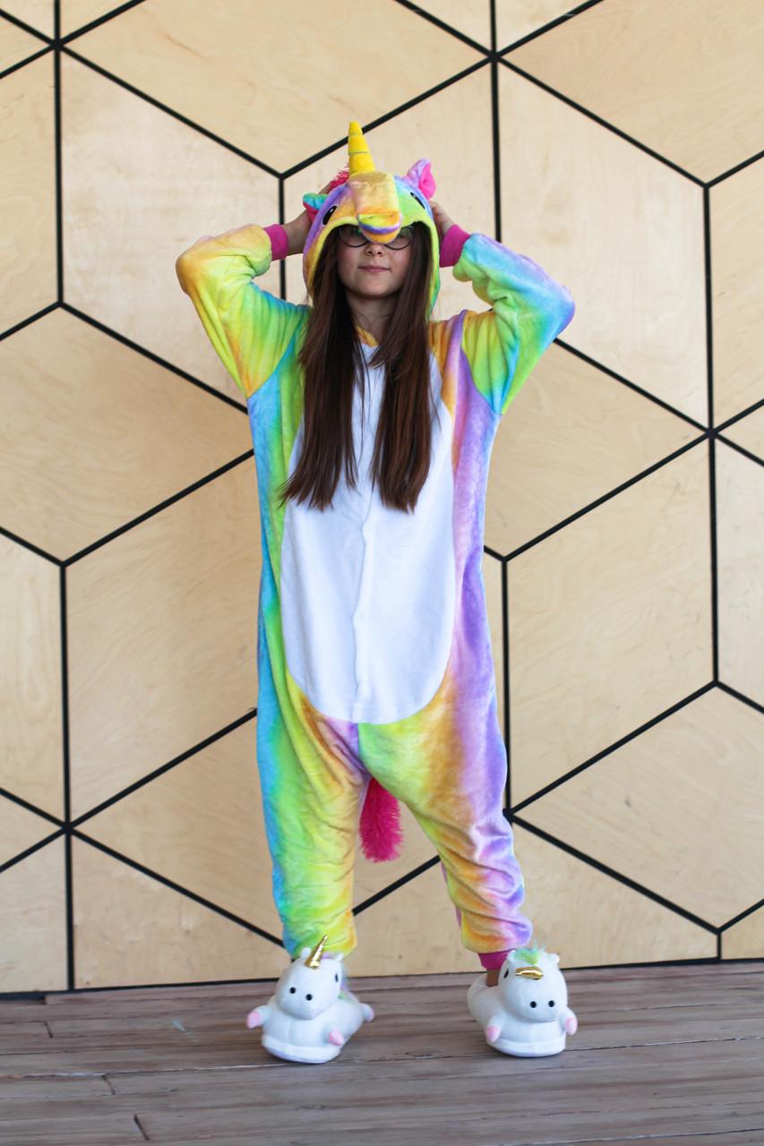 Пижама кигуруми для детей Радужный единорог Funny Mood