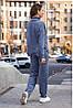 """Вязаный костюм женский """"Мила"""" - джинс, фото 2"""