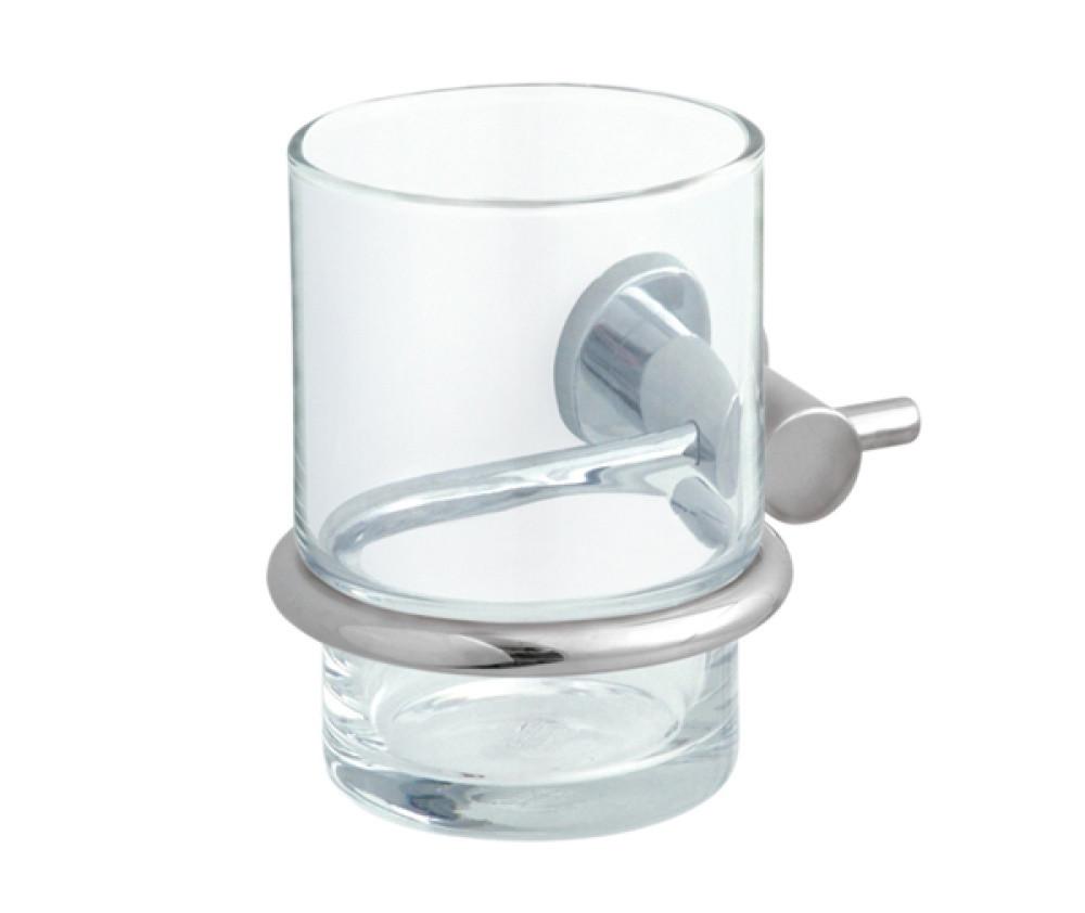 Стеклянный стакан для зубных щеток настенный Fala 75844