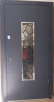 Входная дверь МАГДА Тип-4 УЛИЦА Графит 142 К19