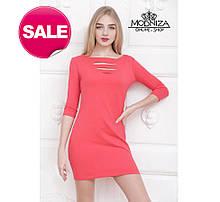 """Жіноча міні сукня з перфорацією """"Олівія"""". Розпродаж"""
