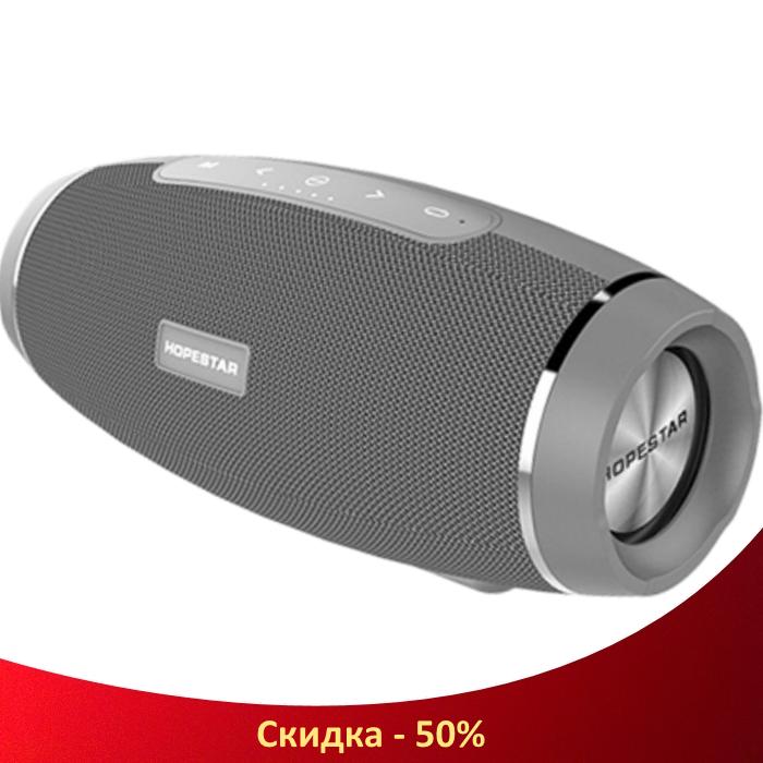 Портативная Bluetooth колонка Hopestar H27 Серая - мощная акустическая стерео блютуз колонка (R436)