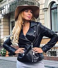 Женская кожаная куртка Fabio Monti, удлиненная модель, 42 ( 42, 44, 46, 48 ) черный, кожа 42