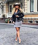 Женская кожаная куртка Fabio Monti, удлиненная модель, 42 ( 42, 44, 46, 48 ) черный, кожа 42, фото 8