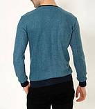 Мужская кофта Denim D9081 сине-зеленая, фото 3