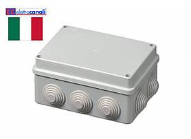 Коробка распределительная IP55 150x110x70 Elettrocanali EC400C5 (навесная, 10 сальников 25мм)