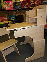 Регулируемая детская парта растишка со стульчиком Финекс+ HB-2071-05-15 (Белая)