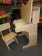 Регулируемая детская парта растишка со стульчиком Финекс+ HB-2071-05-15 (Белая), фото 2