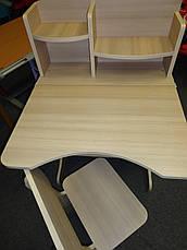 Регулируемая детская парта растишка со стульчиком Финекс+ HB-2071-05-15 (Белая), фото 3