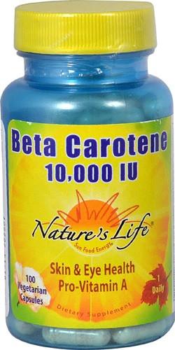 Nature's Life Beta Carotene 10.000 IU 100 капс