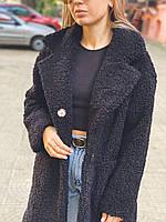 Женское пальто букле барашек оверсайз на кнопках свободного кроя 42-44,46-48,50-52