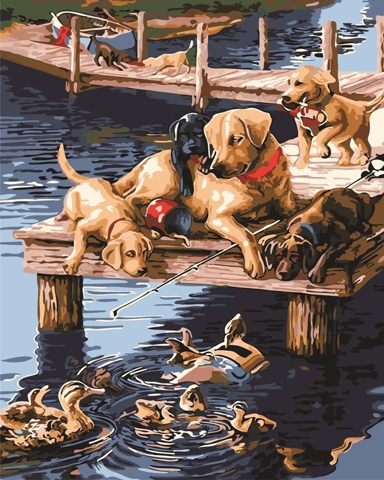 "Картина по номерам ""На рыбалке"" тм Лавка Чудес 40 x 50 см (в коробке) (LC20137)"
