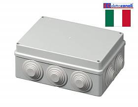 Коробка распределительная IP55 190x140x70 Elettrocanali EC400C6 (навесная, 10 сальников 32мм)