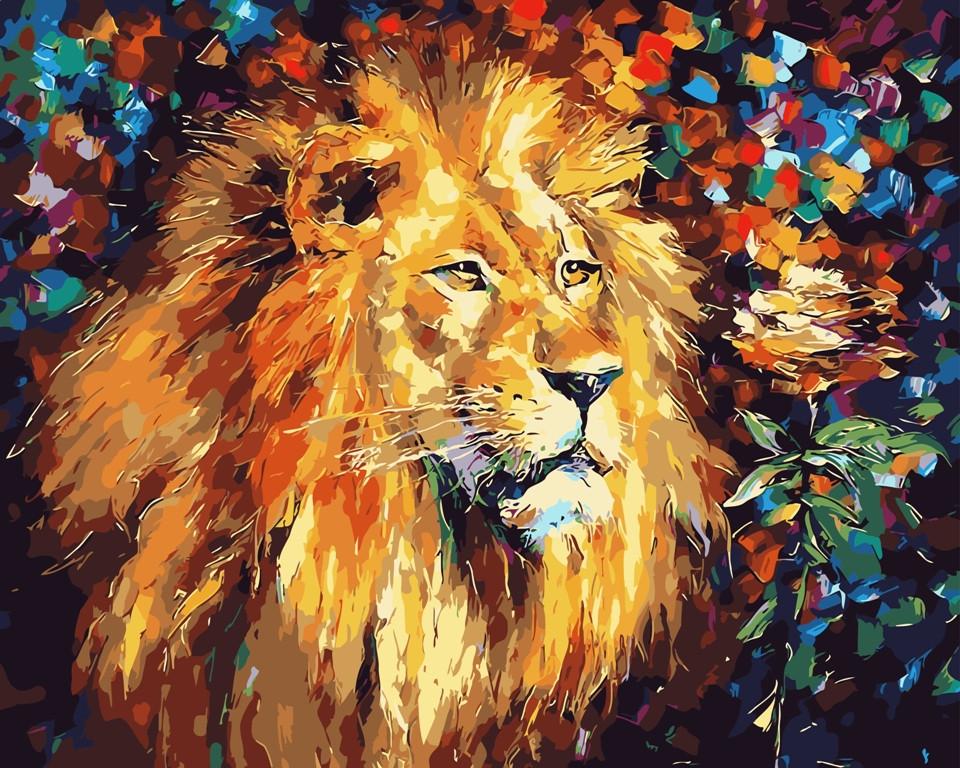 """Картина по номерам """"Благородный лев"""" тм Лавка Чудес 40 x 50 см (в коробке) (LC20102)"""