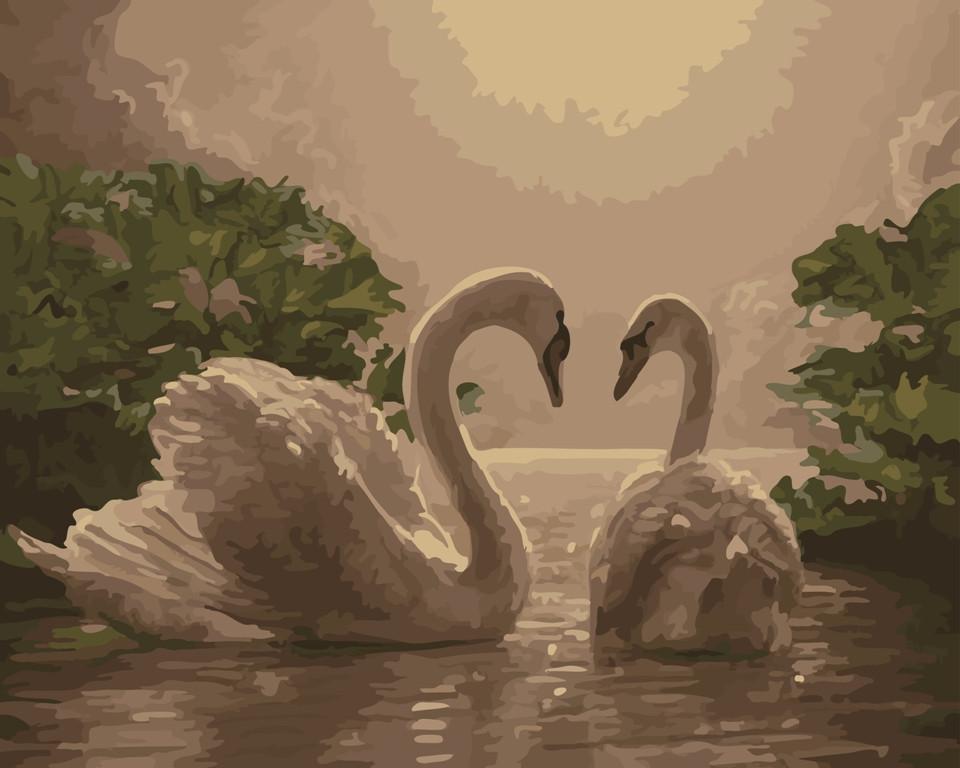 "Картина по номерам ""Пара лебедей"" тм Лавка Чудес 40 x 50 см (в коробке) (LC20108)"
