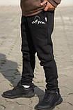 Штаны теплые детские спортивные для мальчика (на байке) (110, 116), фото 2