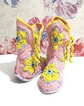 Тапочки теплі чобітки розмір 37-38 на фетровому підошві \ I-V - 003