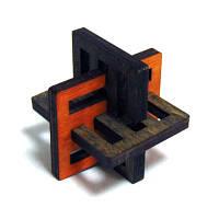 Головоломка деревянная Крест Акиямы