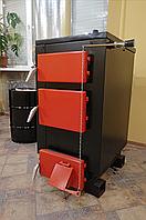 Котел твердотопливный 10 кВт (механическая регулировка тяги, в комплекте) Эконом серия