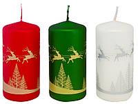 Упаковка новогодних декоративных свечей BISPOL №SW50/100-499D-01