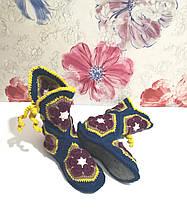 В'язані чобітки для дому розмір 39-40-41 фетровий підошва \ I-V - 004