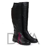 Зимние сапоги женские кожаные 9014blackz качественная женская обувь