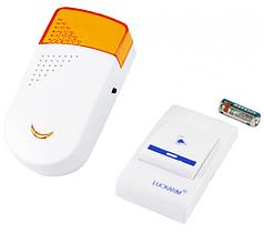 Беспроводной дверной звонок Luckarm Intelligent 0911 с батарейкой White/Orange