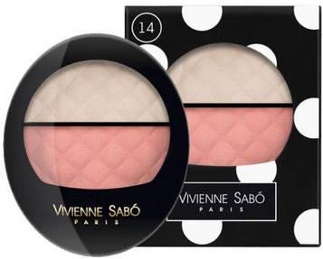 Рум'яна-хайлайтер подвійні Vivienne Sabo Teinte Delicate Blush-Highliter Duo