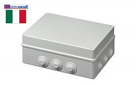 Коробка распределительная IP55 300x220x120 Elettrocanali EC400C8 (навесная, 12 сальников 32мм)