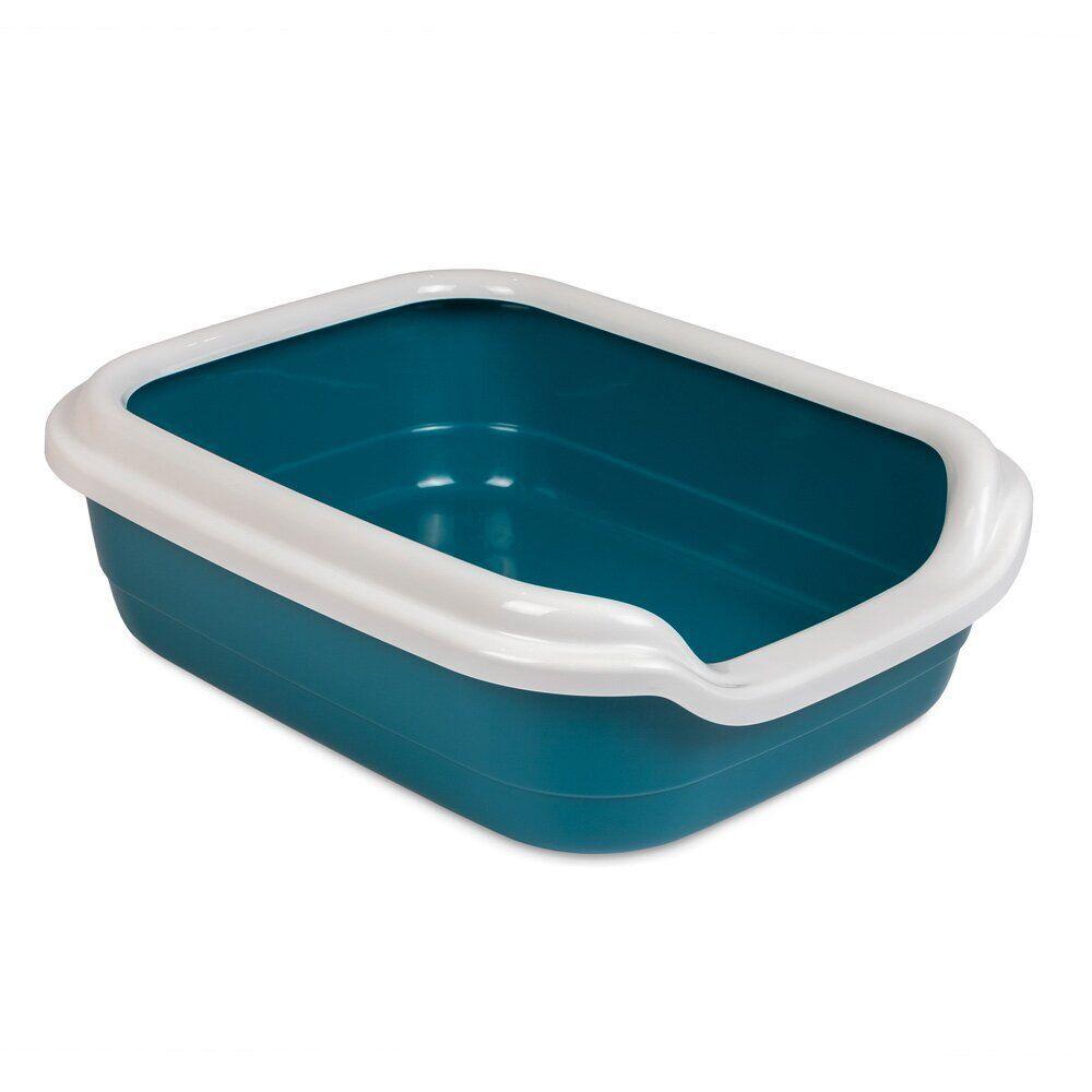 Туалет для кошек Природа с бортиком «Comfort» 39 x 49 x 15 см (пласти, цвет: синий)