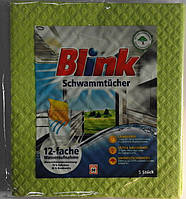 Губчатые прорезиненные  салфетки для дома Blink Schwammtuchen 5 шт