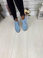 Ботинки замшевые женские, фото 1