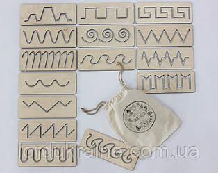 Трафареты первого письма в мешочке SMARTKIDS   Игры на логику   Логические игры   Развивающие игрушки