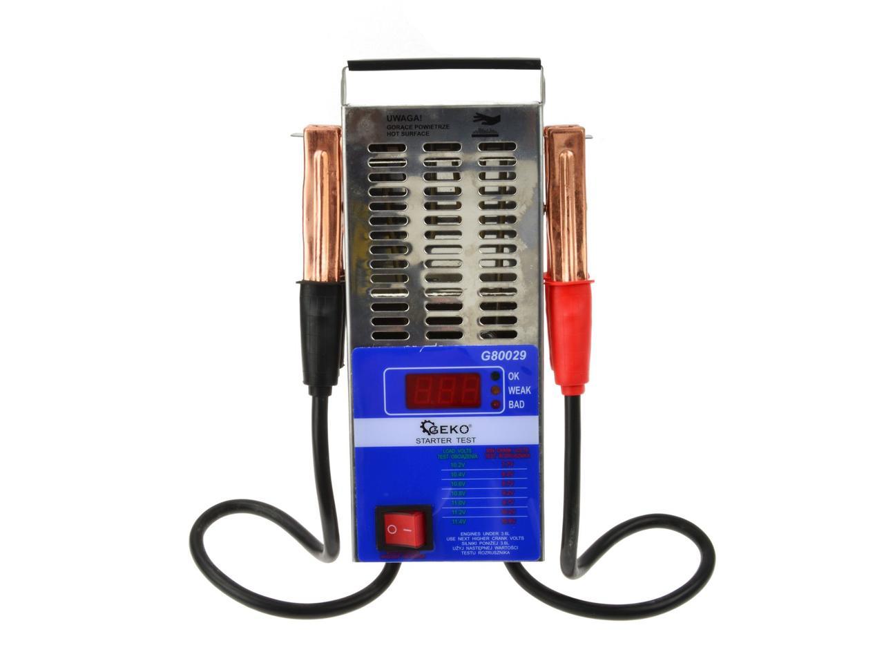 Цифровый акумуляторний тестер 12V (125A) GEKO G80029