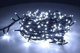 Новогодняя гирлянда светодиодная нить кристалл 300 LED белая. Праздничное освещение для дома и улицы