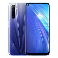 """Смартфон Realme 6 8/128GB Dual Sim Blue (662969); 6.5"""" (2400х1080) IPS / MediaTek Helio G90Т / ОЗУ 8 ГБ / 128 ГБ встроенной + microSD до 256 ГБ /"""