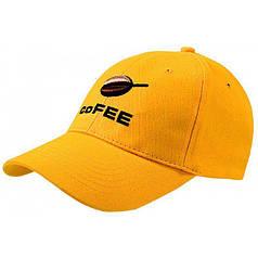 Кепка COFEE 5-ти клинка на металлической пряжке, желтая