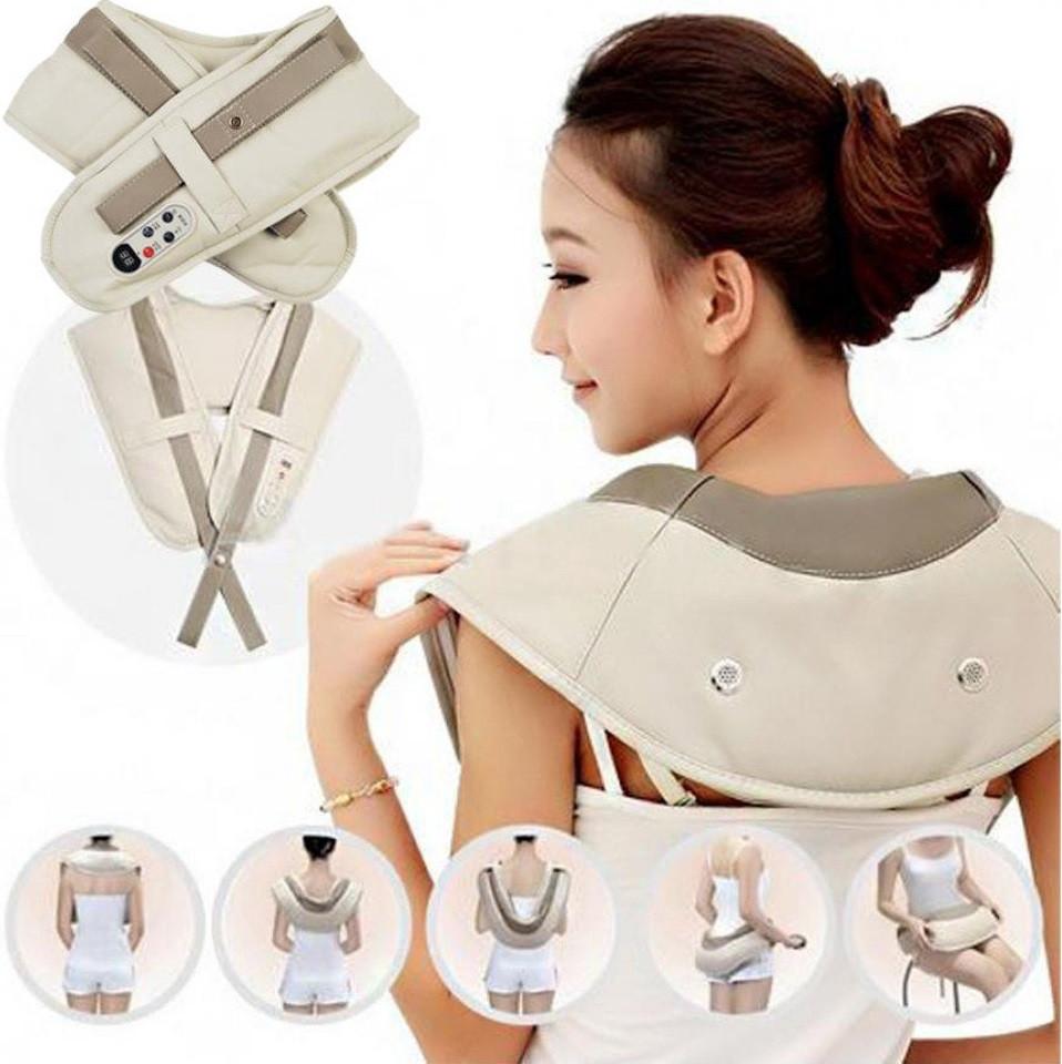 Вибромассажер для спины, плеч и шеи Cervical Massage Shawls Honda QL-188