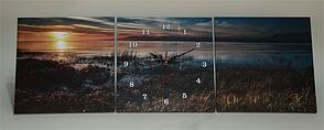 Картина годинник триптих настінний, кварцові