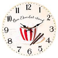 """Годинник """"Гарячий шоколад"""" 34см (011AL)"""