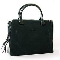 Женская сумка зеленого цвета из натуральной замши 32*23*16см ALEX RAI (9-03 8542-1 green)