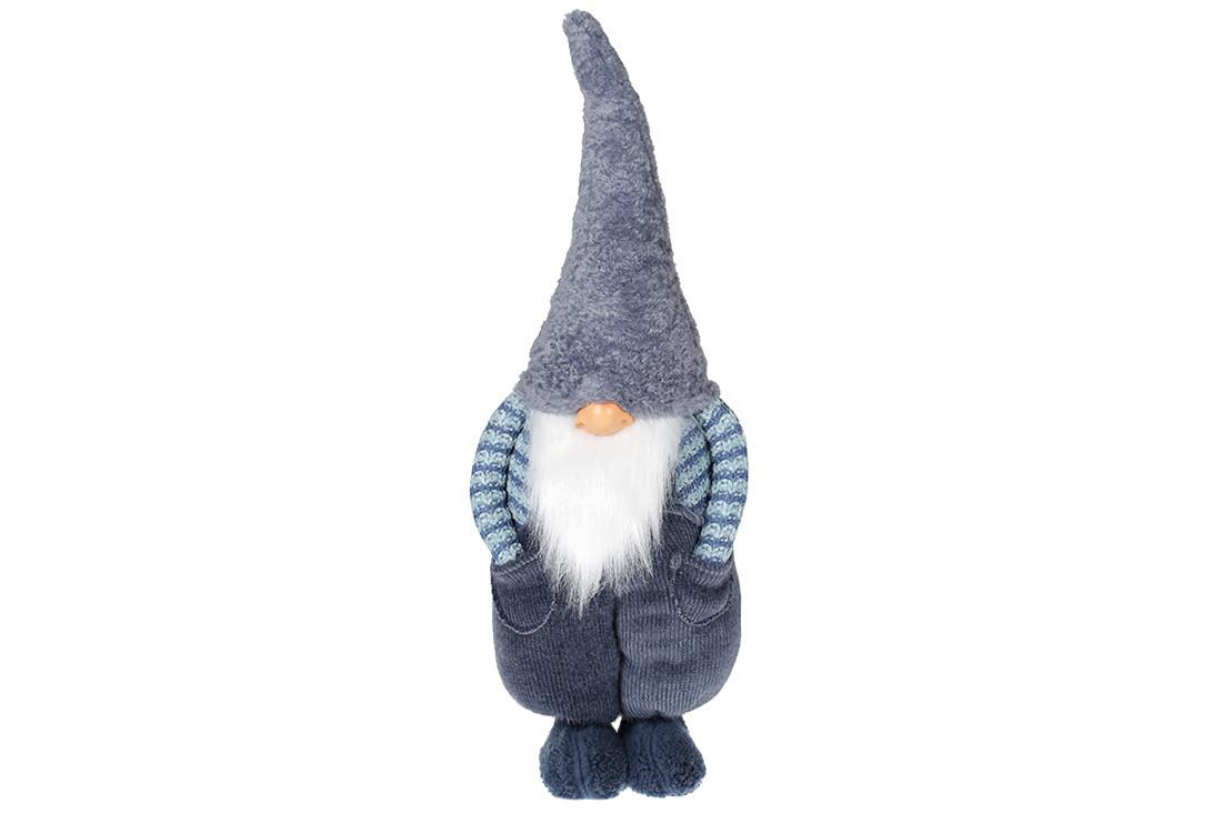 Мягкая игрушка Гном 57см, цвет - синий (877-050)