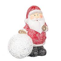 """Фигурка светящаяся """"Дед Мороз и снежный ком"""" красный (13*15 см), в упаковке 6шт. (001ND)"""