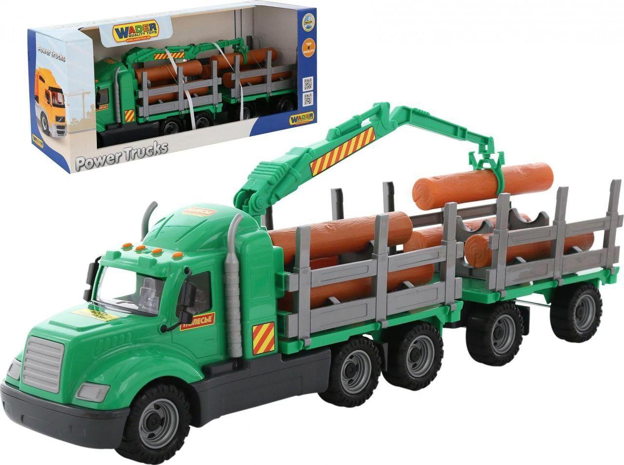 """Игрушка Polesie """"Майк"""", автомобиль-лесовоз с прицепом (в коробке) (55668)"""