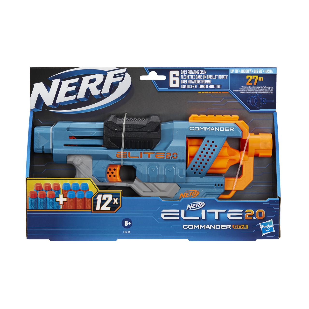 Игрушечное оружие Нерф Элит 2.0 бластер Коммандер (E9485)