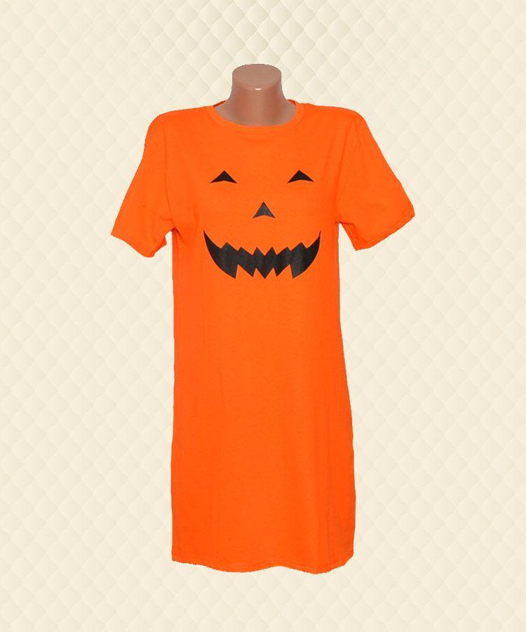 Нічна сорочка помаранчева накат кулір