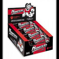 Протеиновый батончик Strong Max - 80g x 20шт Strawberry (Клубника) - Monsters