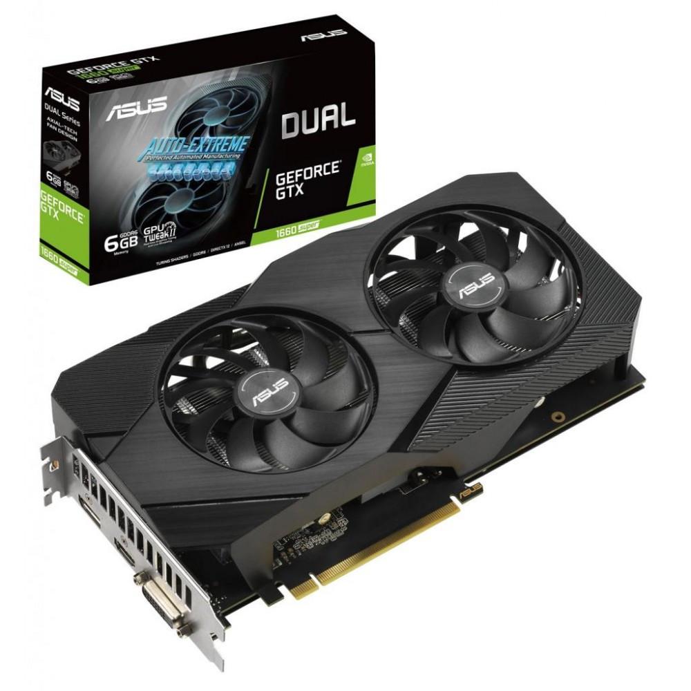 Видеокарта ASUS GeForce GTX 1660 SUPER DUAL EVO, 6GB (DUAL-GTX1660S-6G-EVO)